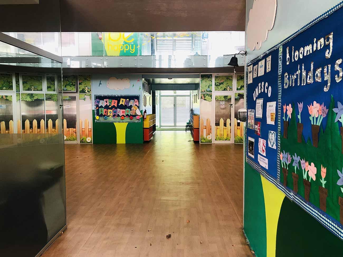 Entrada a Patio Central y Salones Preescolar
